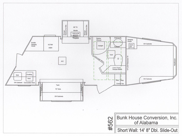 Congress floorplans by bunkhouse conversion of alabama for Bunkhouse floor plans